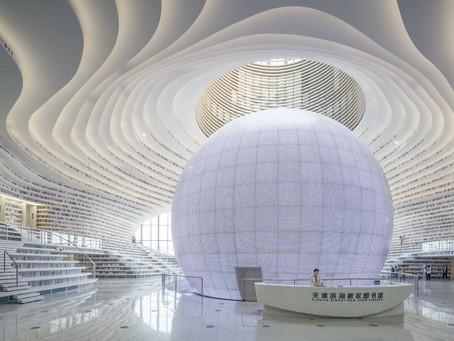 China inaugura a biblioteca mais moderna do mundo.