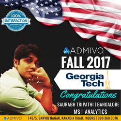 Saurabh Got admit from Georgia Tech for ms in Analytics