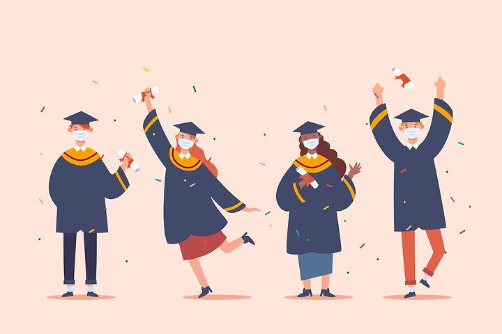 Postgraduate students celebrating convocation