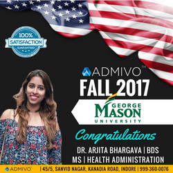 Arjita got admit from George Mason for MS in MHA