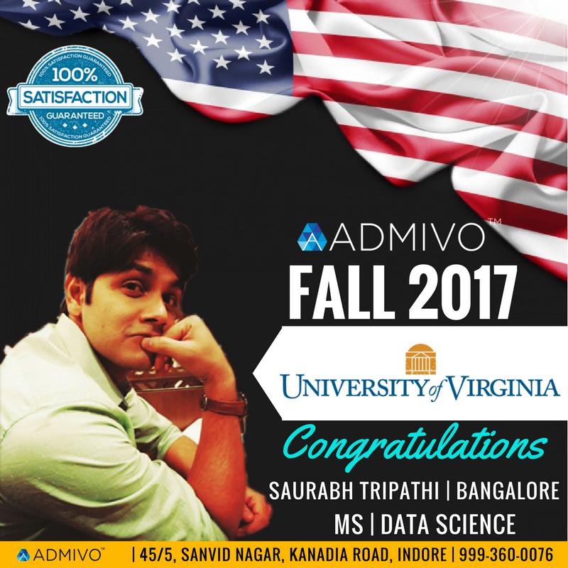 Saurabh Got admit from University of Virginia