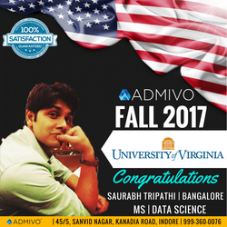 Saurabh Got admit from University of Virginia