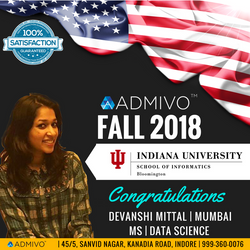 Devanshi got admit from Indiana University for MS in Data Science