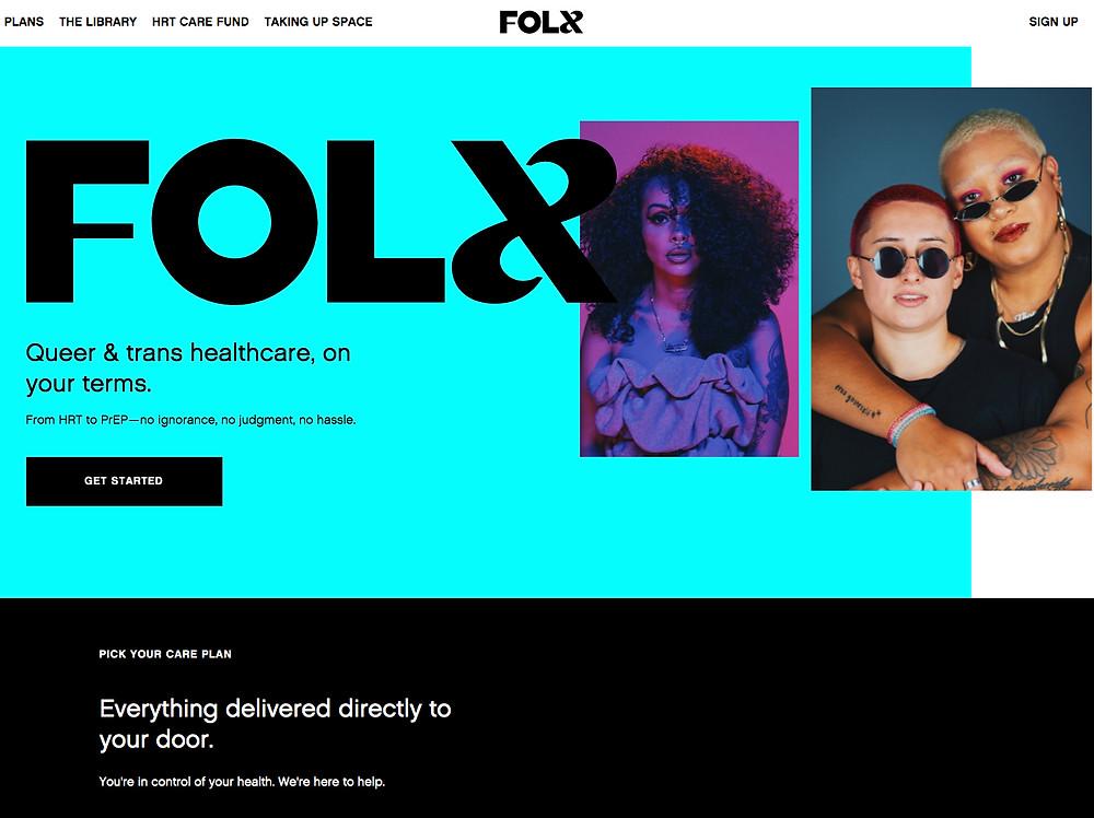 צילום מסך אתר FOLX