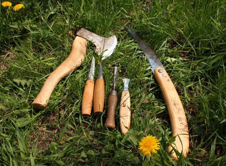 Nástroje na výrobu dřevěné lžíce