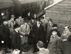 Eustace Missenden at Ayton Station