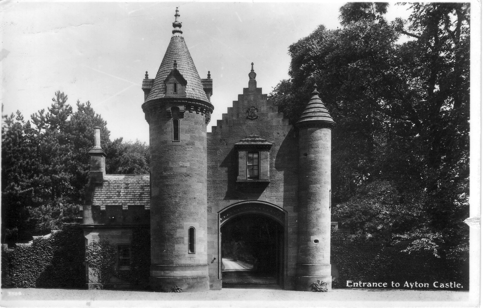 Entrance to Ayton Castle