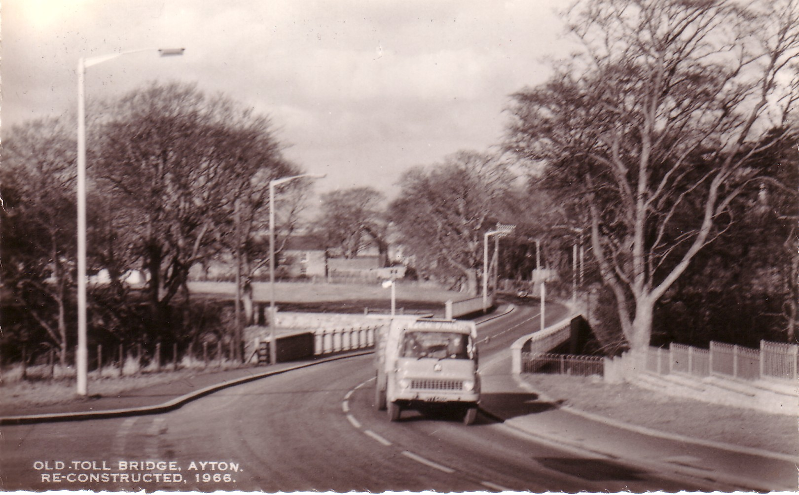 Old Toll Bridge Ayton Reconstructed 1966