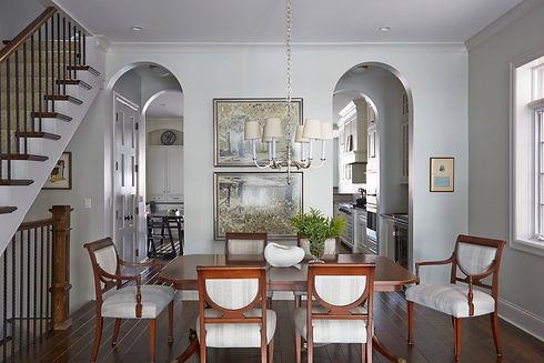 Roscoe Village Chicago Transitional Dining Room - Maren Baker Design