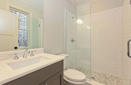 Lincoln Square Chicago New Construction Basement Bathroom  - Maren Baker Design