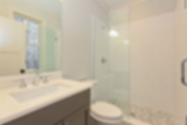 Lincoln Square Chicago New Construction Basement Bathroom  - Maren Baker Design