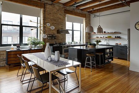 West Town Chicago Loft Kitchen and Dining Room Remodel - Maren Baker Design