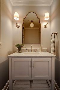 Lincoln Park Chicago Powder Room Remodel - Maren Baker Design