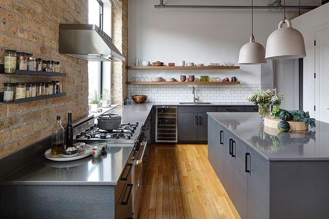 West Town Chicago Loft Kitchen - Maren Baker Design