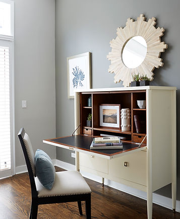 Lincoln Park Chicago Townhome Office Area - Maren Baker Design