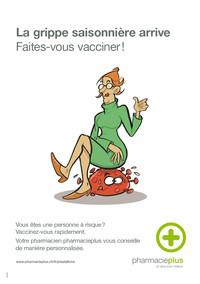 Affiche vaccination. Grippe saisonnière