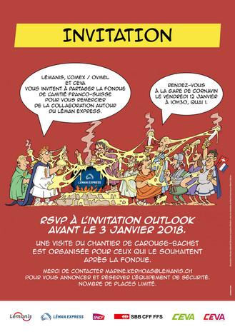 Lémanis invitation réalisée par Unigraf