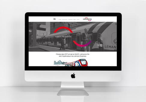 Lémanis Site internet réalisée par Unigraf