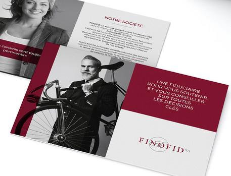 Depliant Finofid A5. 3 volets