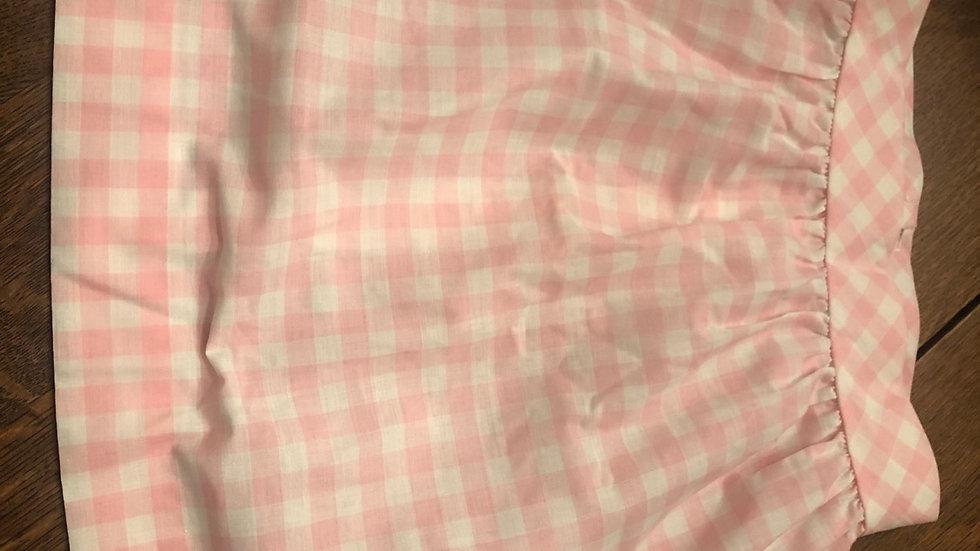 Sweet checkered pink skirt
