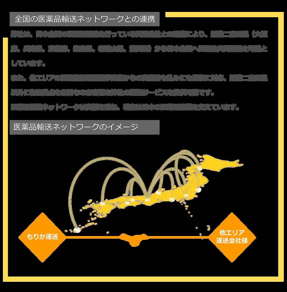 医薬品輸送ネットワーク