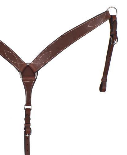 Dark Brown Leather Breast Collar