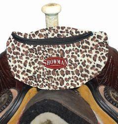 Leopard Print Saddle Pouch