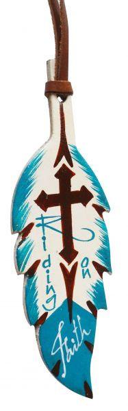 Riding on Faith Saddle Feather