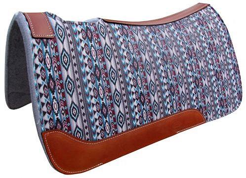 Multi Color Navajo Diamond Print Saddle Pad