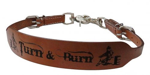 Turn & Burn Branded Leather Wither Strap