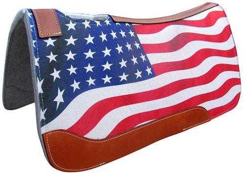 American Flag Saddle Pad