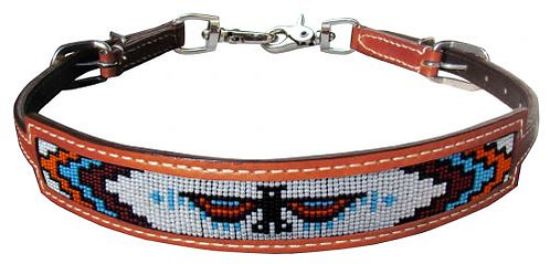 Thunderbird Beaded Inlay Wither Strap