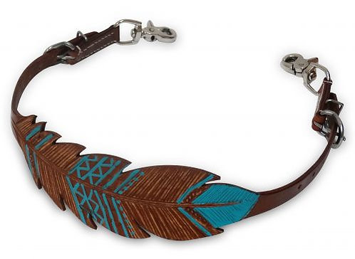 Teal Feather Wither Strap