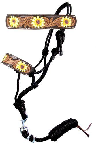Sunflower Rope Bronc Halter w/ Lead