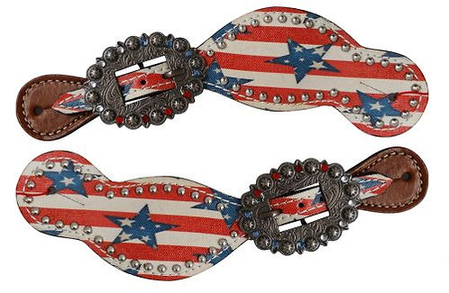 Stars & Stripes Spur Straps