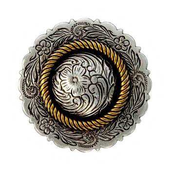 Antique Silver & Gold Rope Center Concho