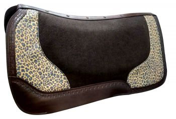 Barbwire Cheetah Felt Saddle Pad
