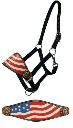 American Flag Bronc Halter