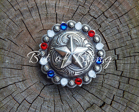 Star Spangled Patriotic Bling Concho
