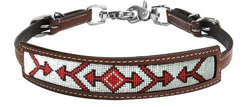 Red Arrow Beaded Inlay Wither Strap