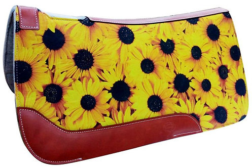 Sunflower Print Saddle Pad