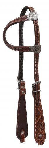 Filigree Tooled One Ear Leather Headstall