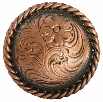 Copper Round Rope Edge Concho