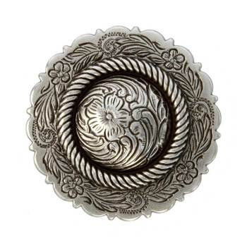Antique Silver Center Rope Concho