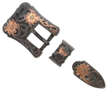 Copper 3pc Western Buckle