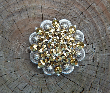 Antique Silver Round Berry Concho - Aurum