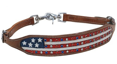 American Flag Bling Wither Strap