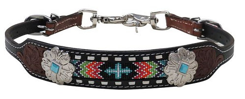 Rainbow Cross Beaded Wither Strap