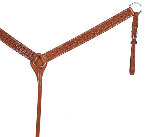 Scalloped Tooled Leather Breast Collar