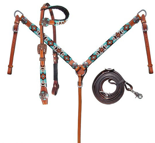 3pc Beaded Tack Set #14026